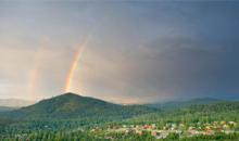 A Rainbow High Overhead.
